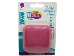 72 of Trim Pink 2 In 1 Compact Mirror With Magnetic Closure