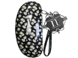 36 of nanette lepore sunglasses case in white  and  yellow floral prin