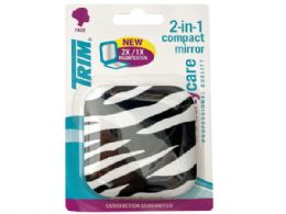 72 of Trim Zebra Print 2 In 1 Compact Mirror With Magnetic Closure