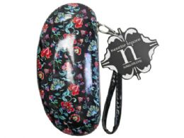 36 of nanette lepore sunglasses case in red  and  black floral print