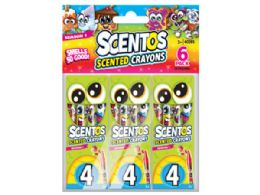 72 of 24 Scentos Scented Crayon Value Pack with 6 Packs of 4 Crayons