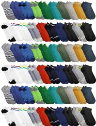 60 of Yacht & Smith Boys Colorful Fun Printed Thin Lightweight Low Cut Ankle Socks