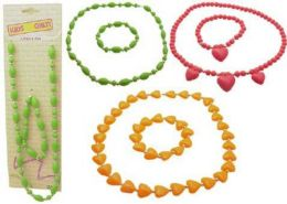 96 of Childrens Multi Colored Necklace Bracelet Set