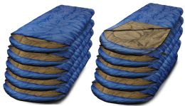 10 of Yacht & Smith Temperature Rated 72x30 Sleeping Bag Solid Blue