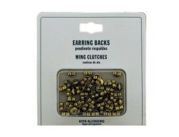 96 of Gold Tone Hypo Allergenic Wing Clutch Earring Backs