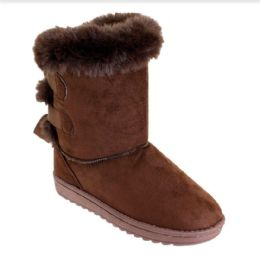12 of Women Fashion Micro Suede Boots In Brown