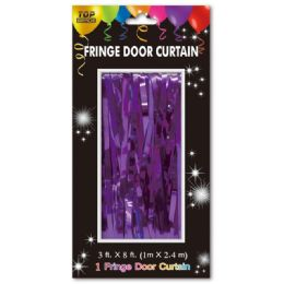 72 of Fringe Door Curtain In Purple