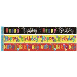 96 of Birthday Foil Banner In Yellow