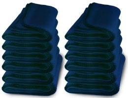 12 of Yacht & Smith 50x60 Warm Fleece Blanket, Soft Warm Compact Travel Blanket Solid Navy