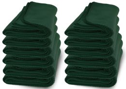 12 of Yacht & Smith 50x60 Warm Fleece Blanket, Soft Warm Compact Travel Blanket Solid Hunter Green