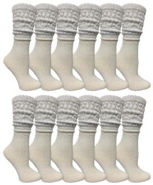 120 of Yacht & Smith Slouch Socks For Women, Solid White Size 9-11 - Womens Crew Sock