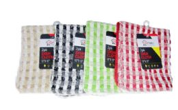 24 of Checkered Dish Cloth 2 Pack