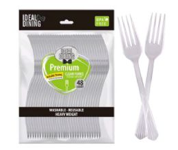 24 of Clear Cutlery 48 Pack