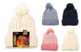 12 of Knit Thermal Furry Fleece Hat