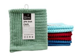 48 of Dish Cloth Striped 2 Pack