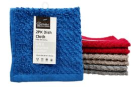 24 of Dish Cloth Zig Zag 2 Pack