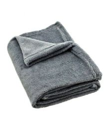 24 of Solid Grey Fleece Throw