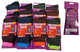 72 of -25 C Lady Heated Socks assorted colors