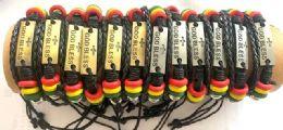 36 of Faux Leather Bracelet God Bless