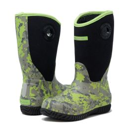 12 of KIDS PREMIUM HIGH PERFORMANCE INSULATED RAIN IN GREEN DIGI CAMO