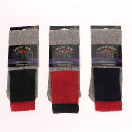 72 of Mens Cotton Thermal Socks Asst