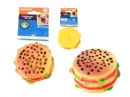 48 of Squeaky Pet Toy Hamburger