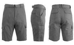 24 of Men's Cargo Shorts With Belt Grey