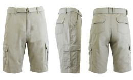 24 of Men's Cargo Shorts With Belt Sand