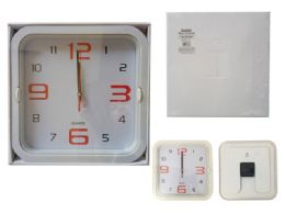 24 of Square Wall Clock In White