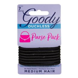 3 of Travel Size Ponytail Holders Goody Ouchless Black Ponytails Card Of 7