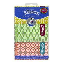 72 of Kleenex Pocket Pack Tissues Hangable Travel Size 3 Packs of 10