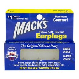 48 of Earplugs - Mack's Pillow Soft Silicone Earplugs 2 Pairs