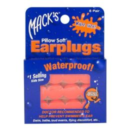 24 of Earplugs - Mack's Soft Moldable Silicone Putty Earplugs Kids Size 6 Pairs