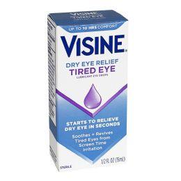 12 of Travel Size Tired Eye - Visine Tired Eye Lubricant Drops 0.5 oz.
