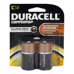 18 of Duracell C Battery - Duracell Coppertop C Batteries Card Of 2
