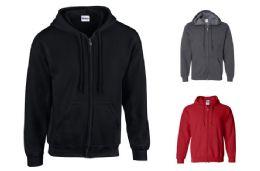 36 of Gildan Zipper Hoodie Sweatshirts