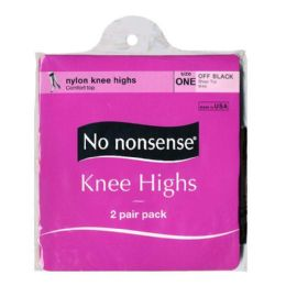 36 of Kneehighs - No Nonsense Kneehighs Off Black 2 Pairs