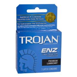 48 of Lubricated Condoms - Trojan Enz Lubricated Condoms Box