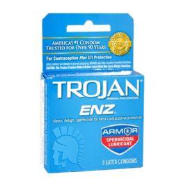 48 of Spermicidal Condoms - Trojan Enz Spermicidal Condoms