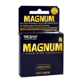 36 of Lubricated Condoms - Trojan Magnum Lubricated Condoms Box Of 3