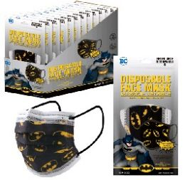120 of Three Layer Child's Disposable Face Mask 10pk [BATMAN]