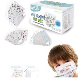 100 of Three Layer Child's Printed Disposable Face Mask 50ct [Boy]