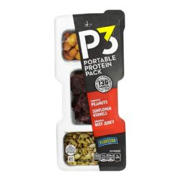 24 of Protein Pack Peanuts - P3 Portable Protein Pack Peanuts Beef Jerky Sunflower 1.8 oz.
