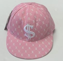 60 of Pink Money Embroidered Fitted Hat Flat Bill Cap