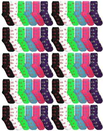 60 of Yacht & Smith Nautical Anchor Print Cotton Crew Socks For Woman, Size 9-11
