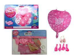 144 of 7pc Balloon Set Baby Girl