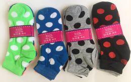 144 of Women Socks Dot Pattern In Assorted Colors