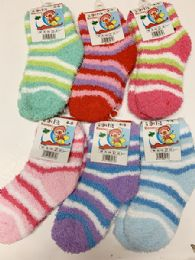 144 of Women Thick Indoor Socks In Assorted Colors Size 4-8