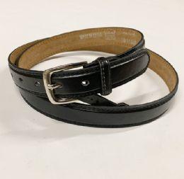 48 of Mens Plain Black Belts Assorted Sizes