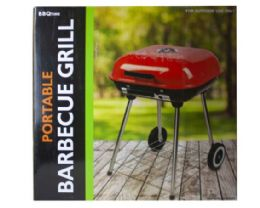2 of Square Charcoal Barbecue Grill With Wheels